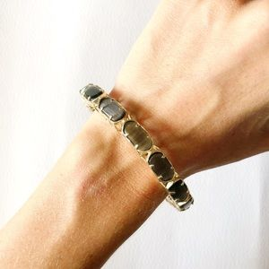 Kendra Scott Slate Catseye Gold Bangle Bracelet